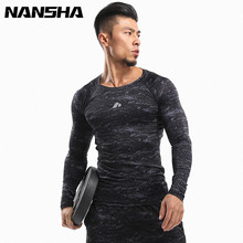 Buy NANSHA Mens Compression Shirt Long sleeve Breathable Quick Dry T Shirt Bodybuilding Weight lifting Base Layer Fitness Tight Tops for $9.99 in AliExpress store