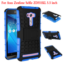 For Asus Zenfone Selfie ZD551KL Case Heavy Duty Armor Kickstand Hybrid Hard Composite TPU ShockProof Cover