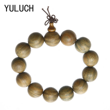 YULUCH Prayer Beads Tibetan Buddhist Mala Buddha Green Sandalwood Bracelet Rosary Wooden Art ewelry accessories(China)