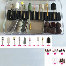 Professional Nail Drill Bit Mill Cutter Nozzle Nail Art Electric Drill Manicure Pedicure Machine Device Sanding Band Drill Brush
