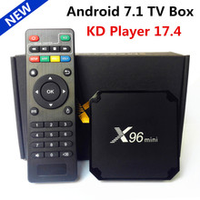 New Android 7.1 TV Box X96 mini KD Player 17.4 Amlogic S905W Quad Core 2GB/16GB UHD H. 265 WiFi Media Player X96mini tv box