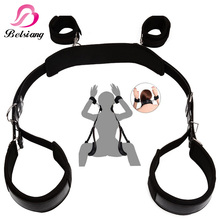 Auxiliary Sex Leather Bondage Restraints Bed For Women Fetish Bdsm Bondage Harness Erotic Game Sex Toys For Couples Sex Products(China)