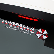Car styling protective umbrella Resident Evil personality sticker reflective zombie car sticker for fuel front rear windshield