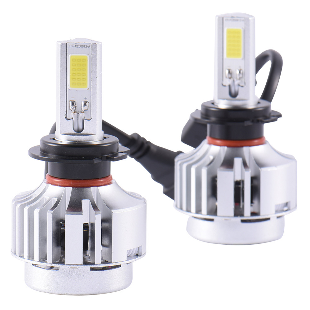 Excellent quality  H7 Auto car LED lamp headlights 72w 6600LM headlamps led 12v lamp headlights for most of the cars<br>