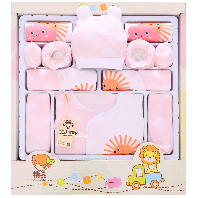 Pure cotton baby clothes Baby gift Spring&amp;summer maternal and Baby supplies 0-3 months baby clothing set sjxty<br>