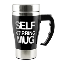 5 Candy Colors 350ml Stainless Automatic Electric Lazy Self Stirring Mug Mixing Milk Coffee Nice Gift for Xmas Office Home
