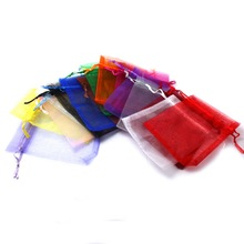 Free Shipping Selection 16 Colors Gift Pouch Bags 7x9cm Organza Jewelry Packaging Display & Jewelry Pouches(China)