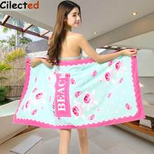 Cilected Microfiber Rose Flower Camping Beach Designer Towels Luxury Absorbent Washcloth Bath Towel For Adults 1pcs 70*150cm