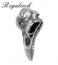 Regalrock Helm of Awe Ravenskull Bird Pendant Necklace