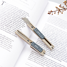 5pcs/lot Mini Metal Pen Knife Classic Tool Small And Portable Hand Knife Silver Pure Color Paper Knife(China)