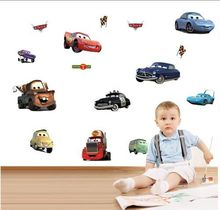 2017 new free shipping Transparent Boy's Bedroom Pixar Cars Wall Stickers Kids Nursery Room Art Decal 3D Stickers