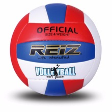Official Size 5 PU Volleyball High Quality Match Volleyball Indoor&Outdoor Training ball With Free Gift Net Needle V612(China)