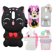 Silicone G4 Plus Case Cartoon Cat Unicorn Minnie Mouse Bunny Cupcakes Tiger Soft Cell Phone Cover Cases For Motorola Moto G4(China)