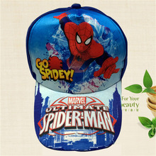 Super Hero spider man Cosplay Cap Novelty TMarvel Comics Hero DC Parker Hats kid Children Hat charms Costume Props Baseball cap(China)