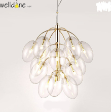 Grape modern pendent lamp glass gold color for bedroom dinning room free shipping