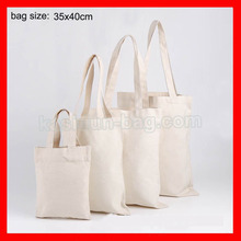 (50pcs/lot) size 35x40cm plain DIY paiting tote canvas shopping bag