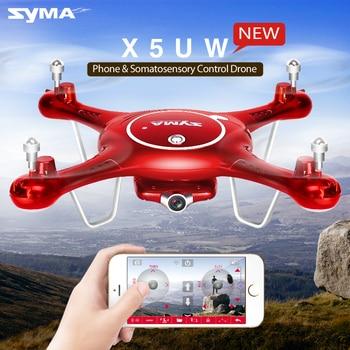Syma x5uw drone con cámara wifi hd 720 p en tiempo real fpv quadcopter 2.4g 4ch x5uc (no hay Cámara de WiFi) Dron RC Helicóptero Quadrocopter