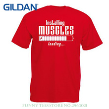 Normal T Shirts For Men Muscle Works Clothing - Weightlift, For Muscle Growth Masters, Vintage Design Anytime Fitness Apparel(China)