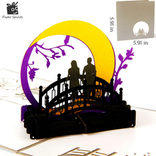 3D Valentines Day Love Greeting Cards Pop Up Paper Kirigami Laser Cut Vintage Gift Cards the Bridges of Madison County(China)