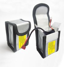 LiPo Battery Safe Guard Charging Protection Fireproof Explosionproof Bag 64*50*150mm/64*50*95mm
