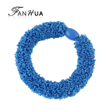 FANHUA New Arrival Elastic Candy Color Rope Headbands Headwear Women Fashion Hair Accessories
