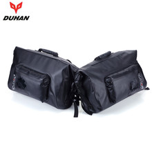 DUHAN Motorcycle Bag Waterproof Saddle Bags Riding Travel Luggage Moto Racing Tool Tail Bags black Multifunction Side Bag 1 pair