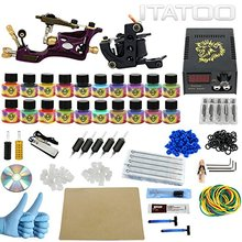 ITATOO Tattoo Kit Cheap Beginner Coil Tattoo Machine Set Kit Tattoo Ink Rotary Machine 2 Gun Liner Supply Professional TK1000005