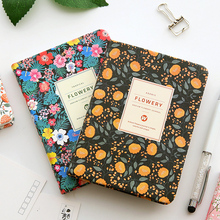 Hot Sales Cute Pu Leather Floral Flower Schedule Book Diary Weekly Planner Notebook School Office Supplies Kawaii Stationery