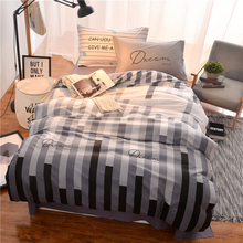 100% cotton queen single twin size kids boys Bedding set black white blue color bed set duvet cover bed/fit sheet set bedlinen