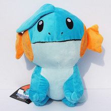 New Arrival 13'' 33CM Mudkip Plush Toys With Tag big size Soft Doll For Children Gift Free shipping