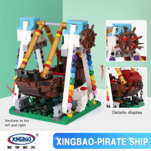 XingBao 01109 Genuine 520pcs The Pirate Ship Set Colorful World Series Building Blocks Bricks Educational Toys Brick(China)