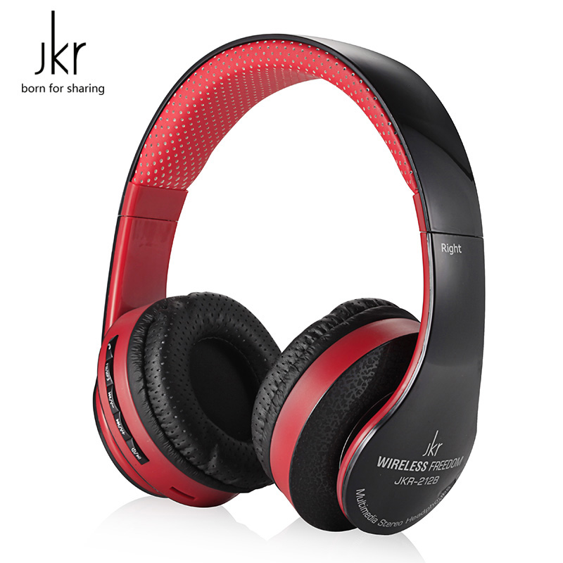 JKR 212B Bluetooth Wireless Headphones with Mic Portable Bluetooth Headset Support Memory Card Music for iPod Mobile Phones<br><br>Aliexpress