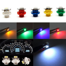 Car-stlyling 1X White B8.4D 5050 1-SMD Dash Auto Side Dash Gauge Instrument LED Lights Bulbs  car accessoreis #5.31