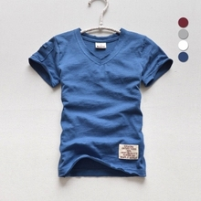2017 summer boys t-shirts brand pure cotton soft children t shirt short sleeve v-neck casual style solid color kids clothes tees