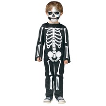 Halloween Skeleton Costume Kid Jumpsuit Fancy Party Costume Masquerade Performance for Boy Girl Plus Size
