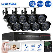 OWSOO Full 960H/D1 8CH DVR 800TVL Security Camera System 1TB HDD HDMI P2P Network Digital Video Recorder 8* CCTV Camera Outdoor