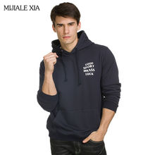 New Arrival High Quality sweatshirts Men Fashion Casual supreme hoodie Free Shipping Letter printed puzzle hoodies Plus Size 3XL