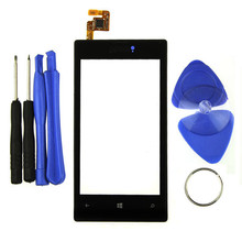 Black Replacement Outer Glass Panel Screen Digitizer for Nokia Lumia 520 2017 Hillsionly New Hot Sale With Tool 7 in 1 Set(China)
