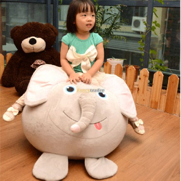 Fancytrader 56cm X 71cm X 41cm Lovely Soft Plush Giant Stuffed Elephant Sofa Tatami for kid, Nice Gift, Free Shipping FT50682<br><br>Aliexpress