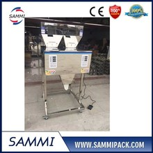 Widely used FZ-1200 double heads filling machine for beans, fine powder, rice, tea, grain, food
