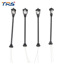Teraysun 200pcs Single Head Scale Lampposts Train N Scale Lights Model Scale Street Lamps Model Building Lights