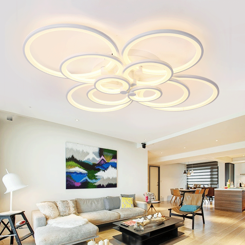 Modern Led Ceiling Lights For Indoor Lighting Acryl Ring AC 90-260V Lustre Moderno Lumiere Plafond Lamp Luminaria De Teto Lampen<br><br>Aliexpress