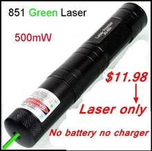 [ReadStar]Laser only 851 Green laser pointer 500mW red laser aluminum laser 5000meter range without 16340 battery and charger(China)
