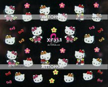Hello Kitty 3D Nail Art Stickers A_Grade 250pcs Mix Style Nail Stickers for Nails -FREE SHIPPING