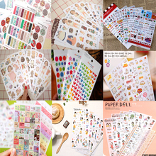 Special offers,(1 Lot=1 Set=6 Sheets) DIY Scrapbooking Crafts Paper Cute Diary Stickers Birthday Album Decoration PVC Labels(China)