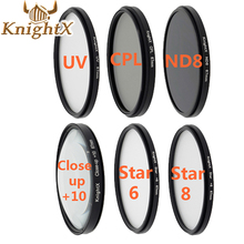 KnightX UV ND star Lens ND Filter Kit set for nikon Canon 1100D 700D 650D 600D Lens DSLR Camera d5200 d5300 d3100 49 52 58 67MM