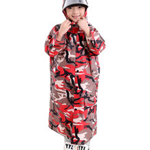 Hot Kid Raincoat Rainwear for Children Raincoats Rain coat Raincoats Children's Camouflage Poncho Rain Gear M L XL XXL XXXL