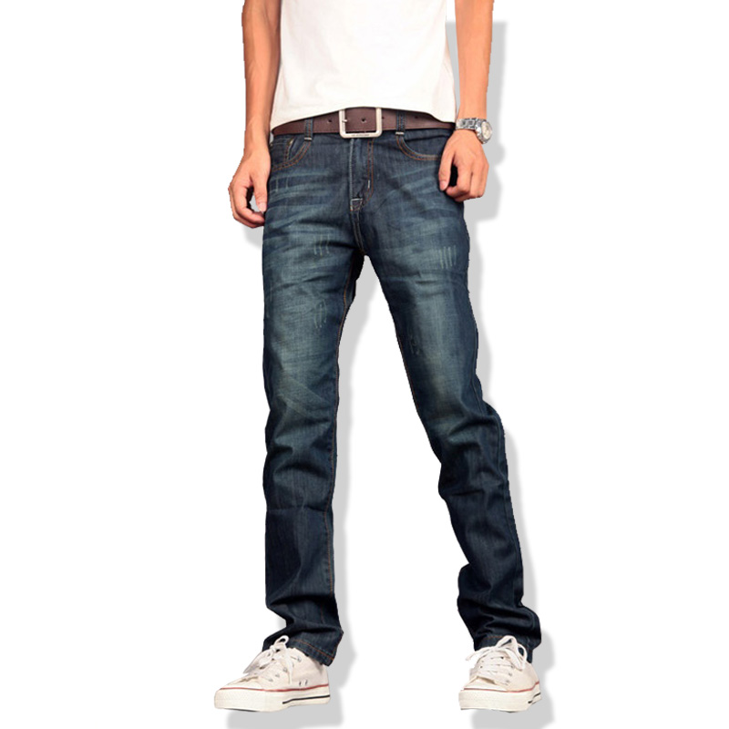2017 New Jeans Men Casual Fashion Classical Male Denim Jeans Men Straight Male Scratched Blue Jeans HommeОдежда и ак�е��уары<br><br><br>Aliexpress