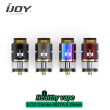 IN STOCK Electronic Cigarettes IJOY Combo RDTA II 25MM Tank 6.5ml 12 Optional Decks Side Filling Design RDA Base 510 Thread Vape