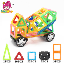 MylitDear Big Size 42Pcs Truck Kids Designer Educational Magnetic Toys 3D DIY Building Blocks Toys For Children